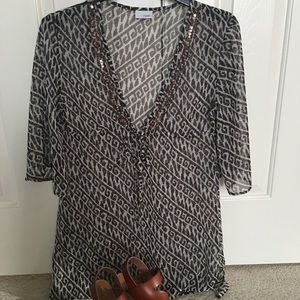 Other - Beautiful brown patterned print cover up